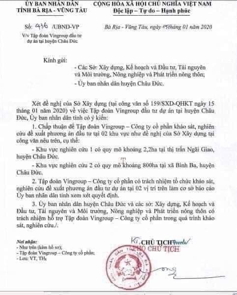 Bà Rịa - Vũng Tàu Giấy phép cho Vingroup 3 -Hoàng Gia Sài Gòn